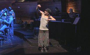 Laëty, chansigneuse, lors de la répétition du Hip Hop Symphonique, le 30 octobre.