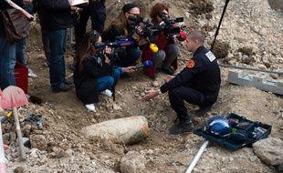 Lors du déminage d'une bombe de la Seconde Guerre mondiale à Marseille. (archives)