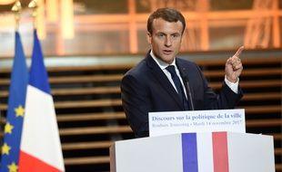 Le président de la République Emmanuel Macron à Tourcoing le 14 novembre 2017.