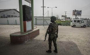Un soldat à Aba, au Nigeria, le 15 février 2019 (image d'illustration).
