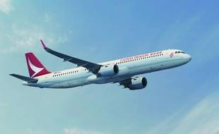 Un futur A321 de la compagnie Cathay Pacific.