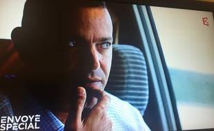 Capture d'écran de Franck Attal, qui était chargé chez Bygmalion de l'organisation des meetings de campagne de Nicolas Sarkozy en 2012. Vidéo France 2