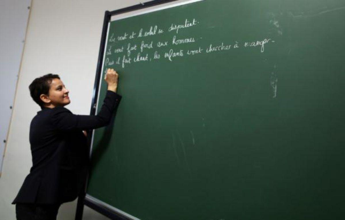 La ministre de l'Education nationale, Najat Vallaud-Belkacem, au Havre, le 22 février 2016 – CHARLY TRIBALLEAU AFP