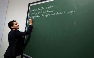 La ministre de l'Education nationale, Najat Vallaud-Belkacem, au Havre, le 22 février 2016