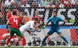 Le coup de tête de Cristiano Ronaldo.