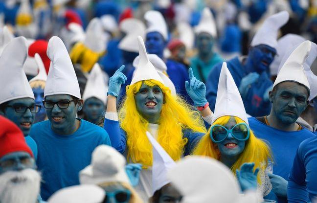 Bretagne: Le record du monde du plus grand rassemblement de Schtroumpfs pulvérisé