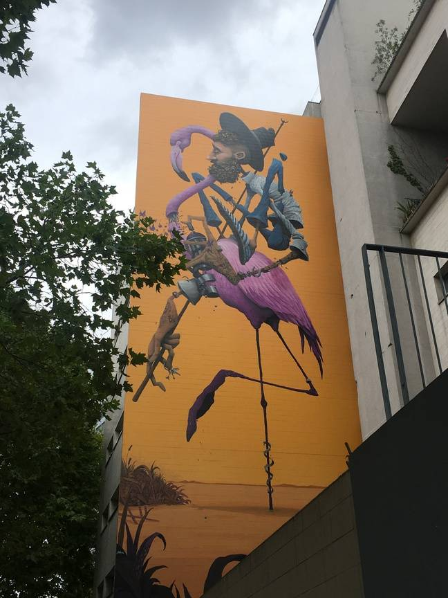 L'oeuvre de Maye, un graffeur et street artist de Camargue.