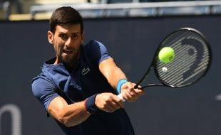 Novak Djokovic à l'entraînement à l'US Open, le 25 août 2019.