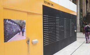 Les panneaux « avant de mourir, je voudrais » sont installés à la gare de Lyon jusqu'en septembre.