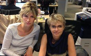 Emmanuelle Delacompté et Gisèle George, enseignante et pédopsychiatre