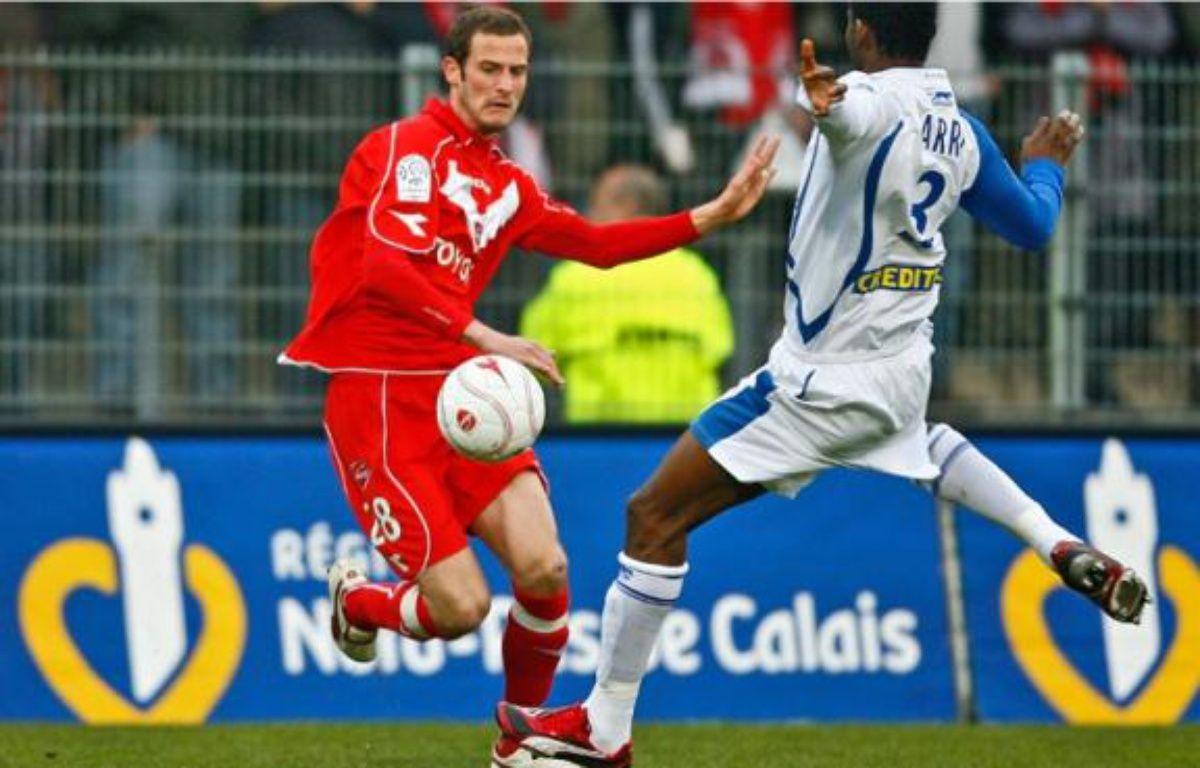 Grégory Pujol, l'attaquant valenciennois, rêve d'aller loin en Coupe de la Ligue. –  M.LIBERT / 20 minutes