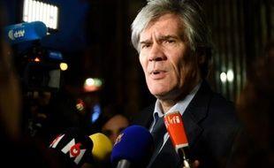 Le porte-parole du gouvernement Stéphane Le Foll à Paris, le 14 décembre 2015