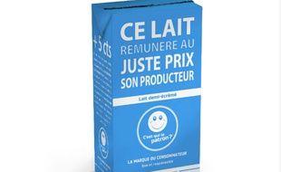 La brique de lait C est qui le patron ? La marque des consommateurs sera vendue à 0,99 euro le litre.