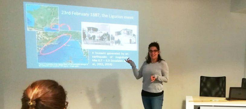 La géographe a notamment étudié le tsunami du 23 février 1887