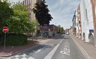 La rue de la Bienfaisance à Tourcoing.