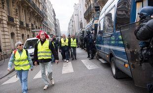 Manifestation de «gilets jaunes» le 16 mars 2019 à Paris.