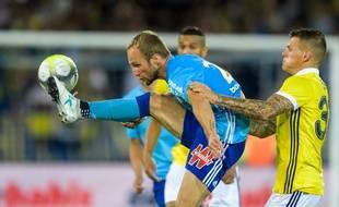Valère Germain (ici lors d'un match amical) n'a pas loupé ses débuts au Vélodrome.