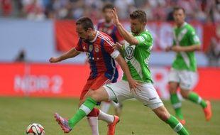 Franck Ribéry, qui porte désormais la barbe, a brillé avec le Bayern Munich en tournoi de pré-saison contre Wolfsburg, le 27 juillet 2014.