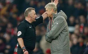 Arsène Wenger, expulsé lors du match entre Arsenal et Burnley le 22 janvier 2017.