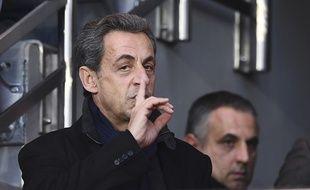 Nicolas Sarkozy, lors de PSG-Nantes, le 11 novembre 2016