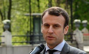 Le ministre de l'Economie Emmanuel Macron à Varsovie, à Varsovie, à l'occasion d'une réunion ministérielle européenne des