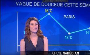 La présentatrice Chloé Nabédian sur iTélé.