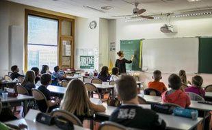 Une salle de classe à Lyon le 2 septembre 2014