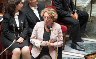 Muriel Pénicaud lors des questions au gouvernement à l'Assemblée nationale, le 12 juillet 2017.