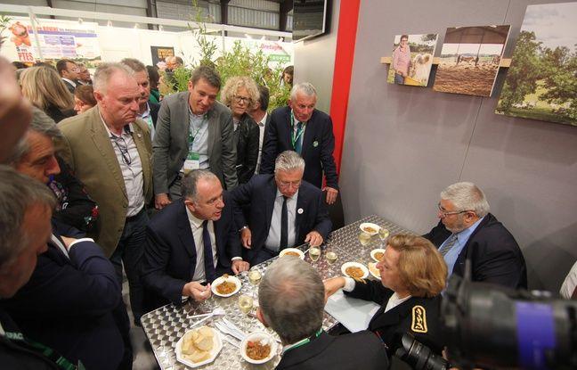 Le ministre de l'Agriculture Didier Guillaume, ici au Space à Rennes.