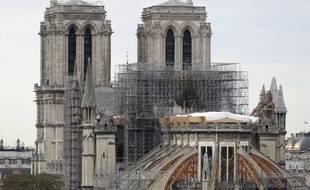 Le chantier de reconstruction de Notre-Dame en septembre 2019.