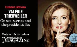 Valérie Trierweiler à la une de l'édition magazine du «Times» anglais, le 22 novembre 2014.