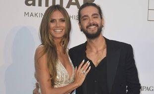 La top Heidi Klum et le guitariste de Tokio Hotel, Tom Kaulitz, au gala de l'amfAR à Cannes