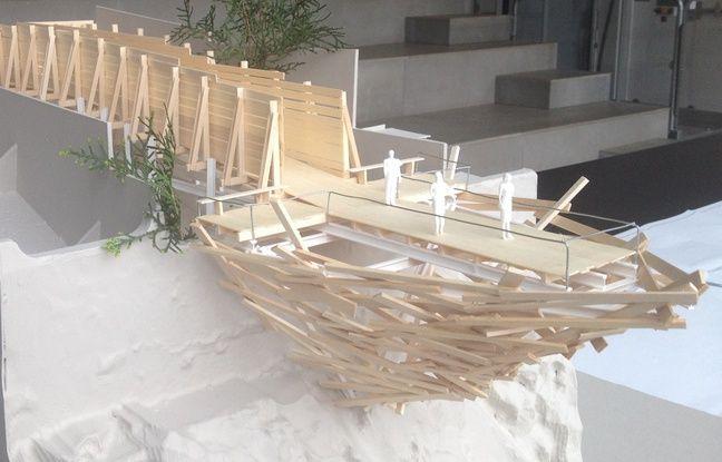 Le projet de belvédère de l'artiste Tadashi Kawamata