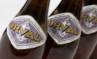 La bière brassée à l'abbaye d'Orval, en Belgique (illustration).