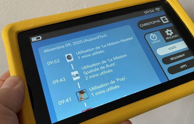Les parents peuvent à tout moment contrôler l'usage que font leurs enfants de leur tablette.