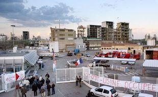 Photo d'illustration d'une usine Arkema, ici à Pierre-Bénite (Rhône) durant un mouvement social en 2007.
