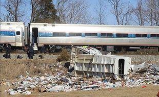 Sur les les lieux de l'accident près de la ville de Crozet, en Virginie, le 31 janvier 2018.