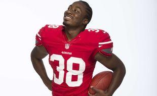 Le footballeur américain des San Francisco 49ers, Marcus Lattimore.