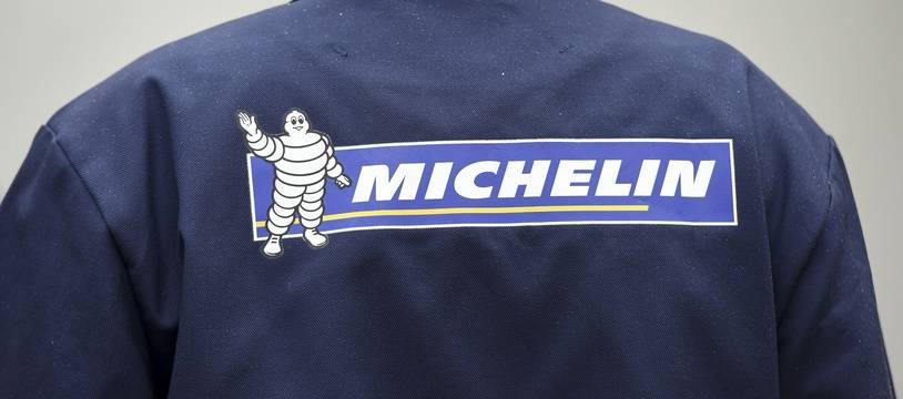 Le logo de Michelin sur une veste d'un ouvrier de l'entreprise. (archives)