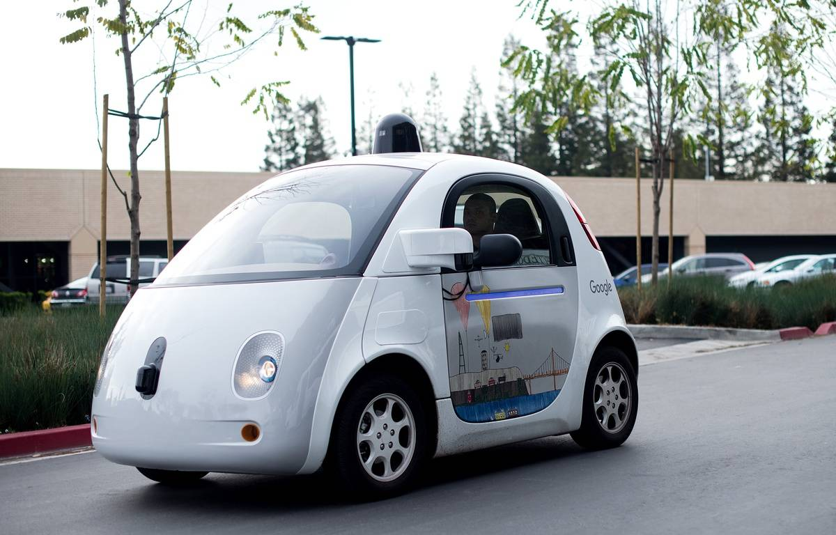 Une voiture autonome Google Car à Mountain View, en Californie, le 8 janvier 2016. – Noah Berger / AFP