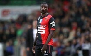 Ntep lors d'un match entre Rennes et Lorient le 7 novembre 2014.