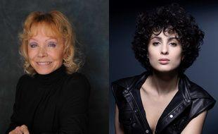 Les chanteuses Isabelle Aubret (en 2009) et Barbara Pravi (en 2021).
