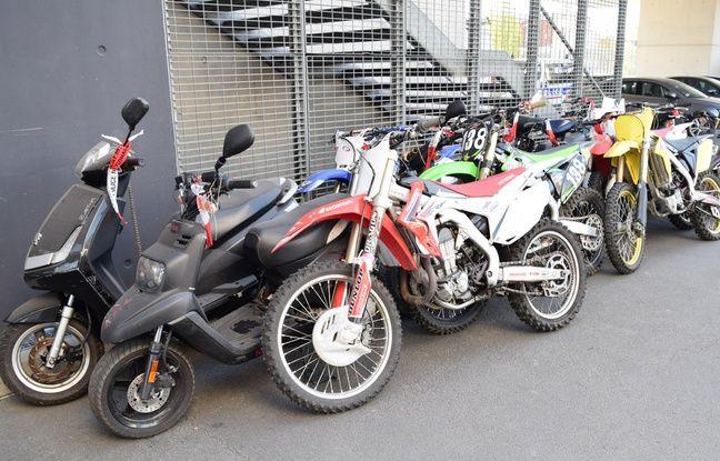 Des motos saisies par la police de Lille et vouées à la destruction.