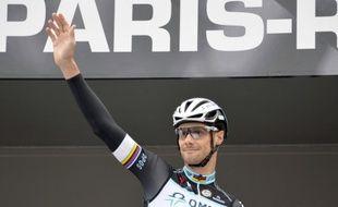 Le coureur cycliste belge Tom Boonen lors du départ du paris-Roubaix 2014, le 13 avril.