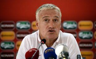 Didier Deschamps, le sélectionneur de l'équipe de France, le 13 octobre 2014 à Erevan.