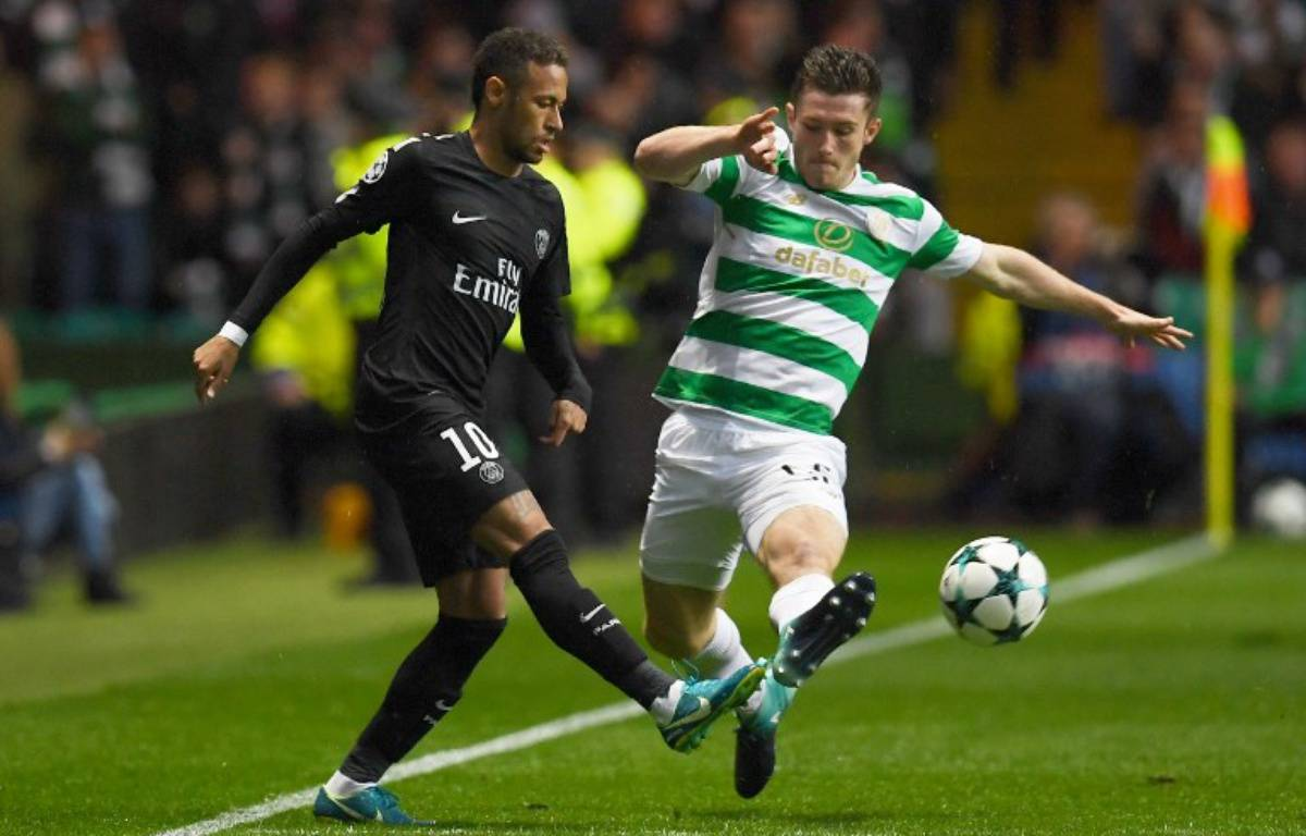 Neymar ouvre le score face à Glasgow – PAUL ELLIS / AFP