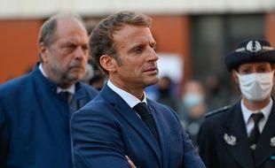 Le président Emmanuel Macron avec son ministre de la Justice, Eric Dupond-Moretti, à Marseille le 1er septembre 2021 (illustration).