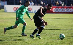 Le club de Khadamat Rafah (en vert) a remporté la coupe de Gaza et doit affronter le Balata FC en finale de la coupe de Palestine.