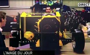 Capture d'écran du zap télé du 10 janvier 2014.