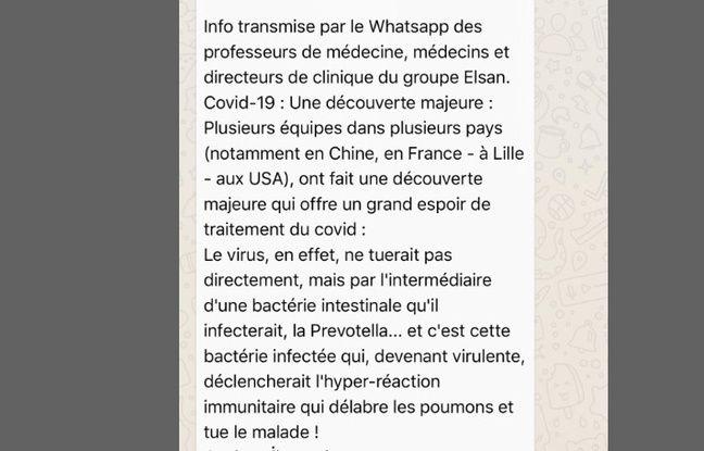Le texte a été massivement partagé sur WhatsApp